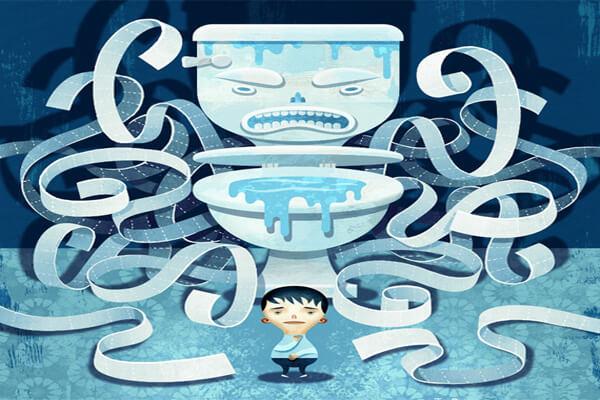 Dùng nhiều giấy vệ sinh